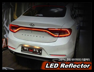 Rear Bumper surface emitting LED Reflector for Hyundai YF Sonata//i45 2010~2013